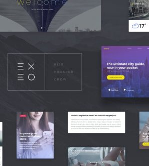 Amazing PSD web template